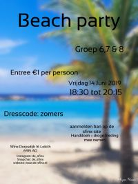 Sfinx beachparty met bbq
